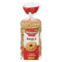 Dempster's Dempster's - 12 Grain Bagels, 6 Each