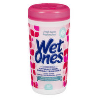 Wet Ones - Antibacterial Hand & Face Wipes - Fresh Scent