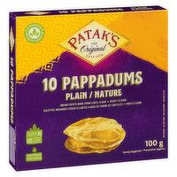 Patak's Patak's - Plain Pappadums, 100 Gram