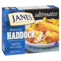 Janes Janes - Haddock Battered Fillets - Genuine Scottish, 575 Gram