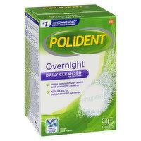Polident - Overnight Denture Cleaner Triple Mint Fresh, 96 Each