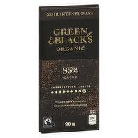 Green & Black's - Organic Dark Chocolate - 85%  Cocoa, 90 Gram