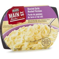 A flavorful treat that accentuates their creamy fresh mashed potatoes with the savory flavor of roasted garlic, now with Parmesan cheese!