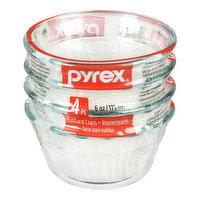 Pyrex - Pyrex Custard Cup 6oz, 4 Each