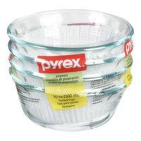 4X10oz bowls. Oven, microwave, refrigerator, freezer, and dishwasher safe. Shatter proof.