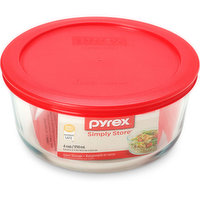Pyrex - Simply Store 4 Cup Round w/Red Lid