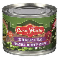 Authentic Mexican flame roasted green chiles.