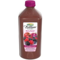 Made with the juice of 69 berries and 8.5 apples per bottle. 100% Fruit Juice Smoothie.