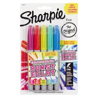 Sharpie Sharpie - Colour Burst Markers, Original, 5 Each