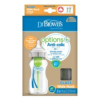 Dr Browns - Wide Neck Glass Bottles - 9 oz Anti-Colic