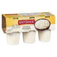 Gluten Free, 6 x 113g Cups. Made with Simple Ingredients: Milk. Eggs. Rice. Sugar.