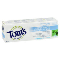 Tom's Of Maine - Simply White Toothpaste - Peppermint Menthol