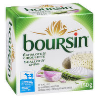 Boursin Boursin - Shallot & Chive Cream Cheese, 150 Gram