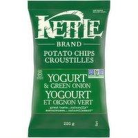 Kettle - Potato Chips -Yogurt & Green Onion, 220 Gram
