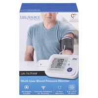LifeSource - Multi User Blood Pressure Monitor - UA767FAM, 1 Each