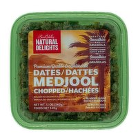 Natural Delights - Medjool Dates - Chopped & Rolled in Coconut Flour, 340 Gram