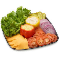 48 hour Prep Time Required for Party Platters. Limit 10 Per Order. Finishing Touches to your Sandwich. Mayonnaise, Mustard, Lettuce, Sliced Tomato, Red Onions, Pickles, Cucumber & More.