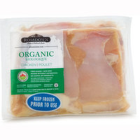Free range, No animal byproducts, raised without antibiotics. Average weight per pack may vary.