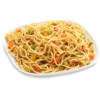 Asian style noodles, bell peppers, edamame beans, carrot, green onion and garlic in a hoisin sauce with sesame seeds. Packaged Fresh. Choose from Ave Weight per Container: Sm - 250g, Med - 400g, Large - 625g.