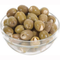 Save-On-Foods - Green Pitted Olives Stuffed w/Garlic, 100 Gram