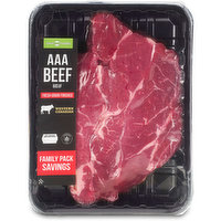 Family Pack. AAA Beef. Grain Fed. Average Weight may Vary By Pack.