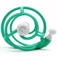 A flexible & highly durable toy that is perfect for teething. The design makes it easy for even very young babies to grasp. Available in Teal or Purple. Please indicate color preferred in cart notes.