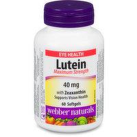 Webber Naturals - Lutein Vitamin 40mg with Zeaxnthin, 60 Each
