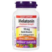 Webber Naturals - Melatonin Maximum Strength, 72 Each
