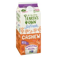 No Sugar Added. Low Sodium. Made with Real Cashews. Excellent Source of Calcium and Vitamin D.