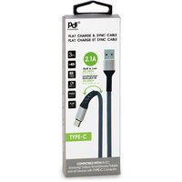 Pdi Accessories - Flat Charge & Sync Cable - Type-C, 1 Each