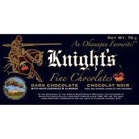 Knight's Knight's - Dark Chocolate Bar - Sour Cherry & Almond, 70 Gram