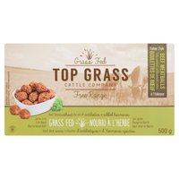 Fully cooked meatballs consist of simple ingredients that are easy to pronounce & compliment the savory flavor of their beef. Free ranged cattle raised without antibiotics or added hormones. GF.