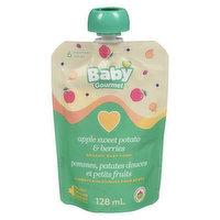 Baby Gourmet Baby Gourmet - Organic Baby Food - Apple Sweet Potato Berry Swirl, 128 Millilitre