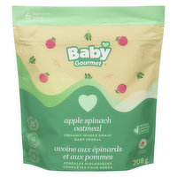 Baby Gourmet - Organic Baby Cereal - Apple Spinach Oatmeal