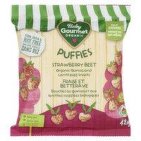 Baby Gourmet - Organic Puffies Strawberry Beet, 42 Gram