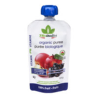Bioitalia Bioitalia - Organic Puree,Apple Black Currant, 120 Gram