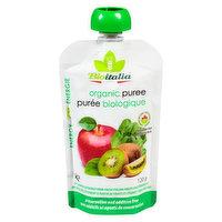 Bioitalia Bioitalia - Organic Puree,Apple Kiwi Spinach, 120 Gram