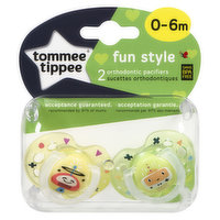 Tommee Tippee - Fun Pacifiers 0-6 months, 2 Each