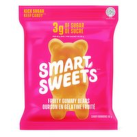 Every ingredient used is non-GMO, always real and never artificial. Feel good about enjoying chewy gummy bears that are bursting with juicy, fruity flavour. Only 3g of sugar per bag. Gluten free.