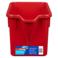 15-litre graduated rectangular bucket specially designed to fit the Bee Mop and with Pouring Tip.