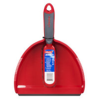 Ergonomic soft grip handle. Arm yourself with a short-handled brush and dustpan sized to perfection for small dirt deposits!