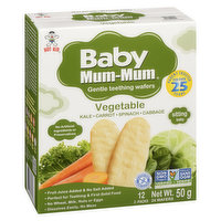 Hot-Kid - Baby Mum-Mum Rice Rusks - Vegetable, 50 Gram