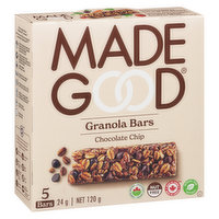 Made Good - Granola Bars - Chocolate Chip, 5 Each