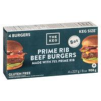 The Keg The Keg - Prime Rib Burgers - 8oz, 4 Each
