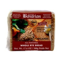 The Genuine Bavarian Organic Breads are made with just a few, organic ingredients and are low in fat, contain fiber and iron and other healthy vitamins and minerals.
