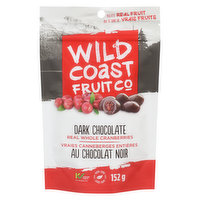 Gently sweetened BC grown whole cranberry with a touch of pure cane sugar, then coated in rich dark chocolate. No artificial flavors, Non-GMO, kosher. Proudly Canadian made.