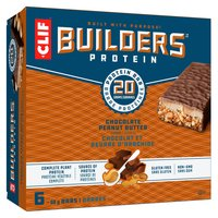 Clif Bar Builder's Bars are a crispy and chewy, high protein bar made with entirely natural ingredients. 6x68g.