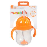 6 months+ 7oz capacity. Weighted straw allows your toddler to hold the cup at any angle. Flip-top lid covers straw while on-the-go. BPA-free, top rack dishwasher-safe.