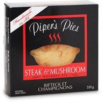 Pipers Pies Pipers Pies - Steak And Mushroom Pie, 350 Gram