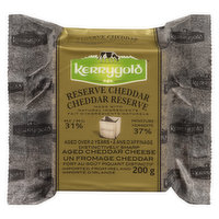 Made with Natural Ingredients. Aged Over  2 Years. Distinctly Sharp Aged Cheddar Cheese.